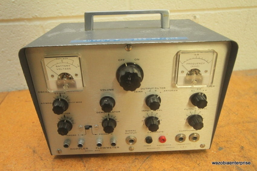 PARKS ELECTRONICS LABORATORY DOPPLER FLOWMETER MODEL 803