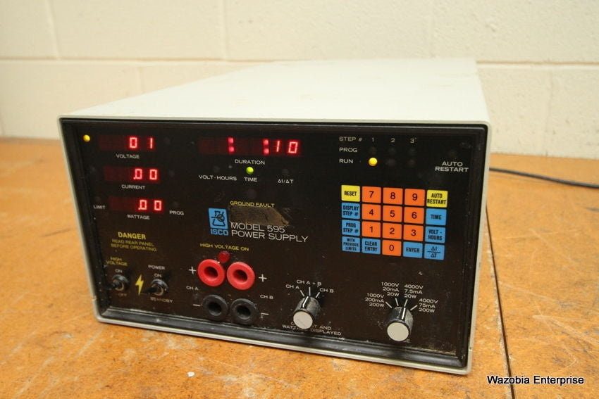 ISCO ELECTROPHORESIS POWER SUPPLY MODEL 595