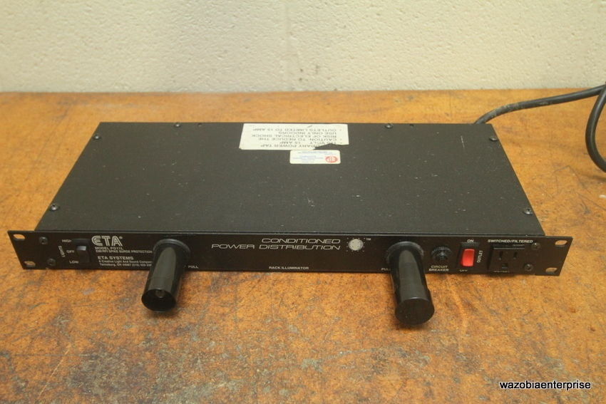 ETA SYSTEMS MODEL PD11L EMI/RFI SPIKE SURGE PROTECTION CONDITIONED POWER