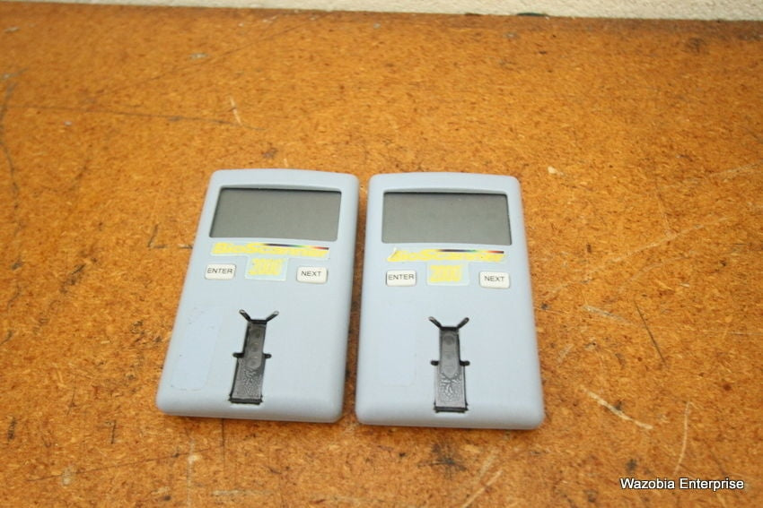 LOT OF 2 BIOSCANNER 2000 GLUCOSE MONITOR