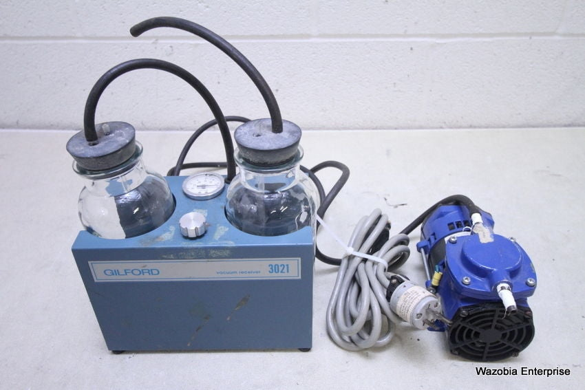 GILFORD VACUUM RECEIVER 3021 WITH THOMAS PUMP 107CA1