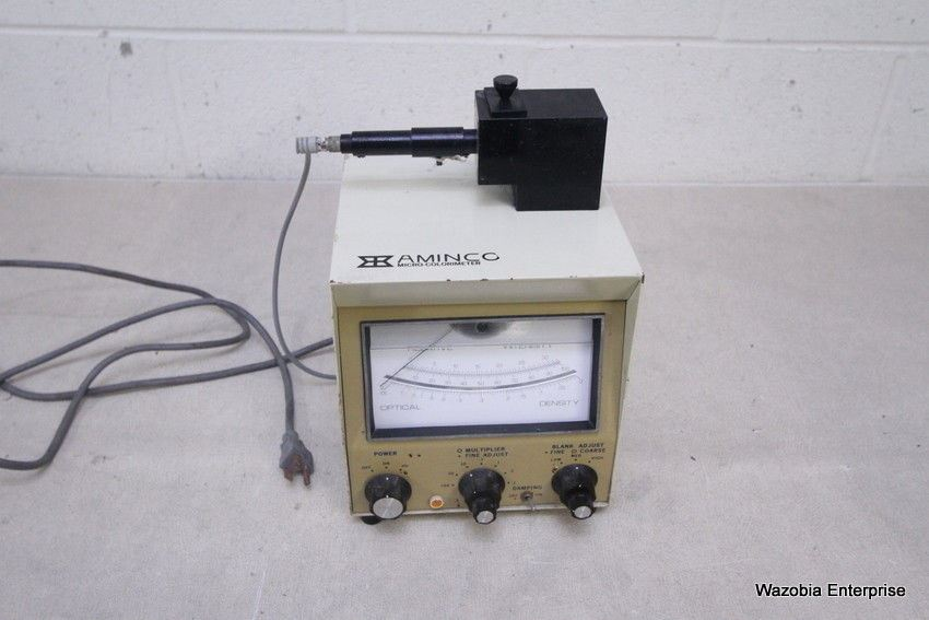 AMINCO MICRO COLORIMETER MODEL 4-7450