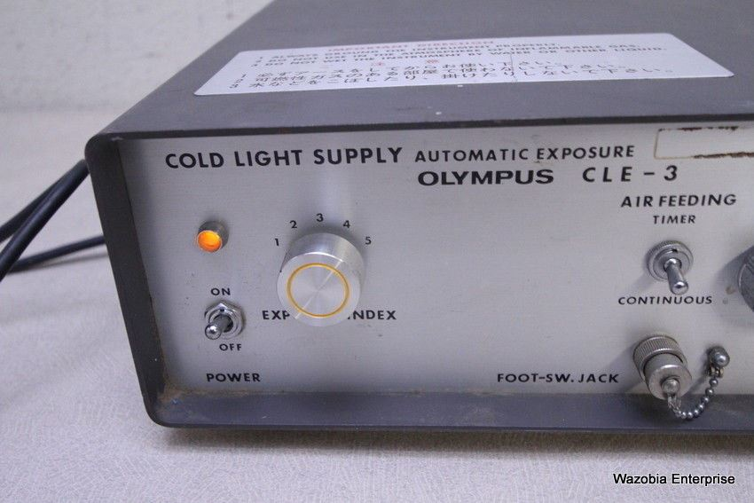OLYMPUS CLE-3 COLD LIGHT SUPPLY