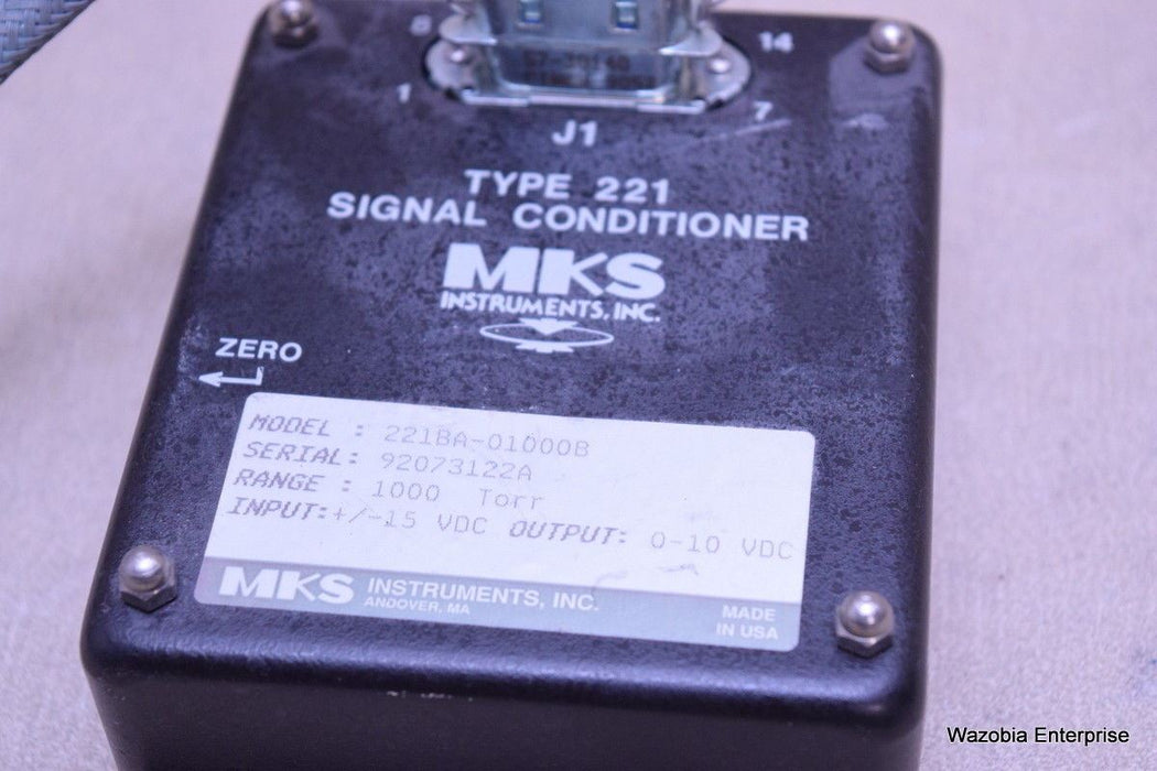 MKS INSTRUMENTS TYPE 221 SIGNAL CONDITIONER 221BA-01000B