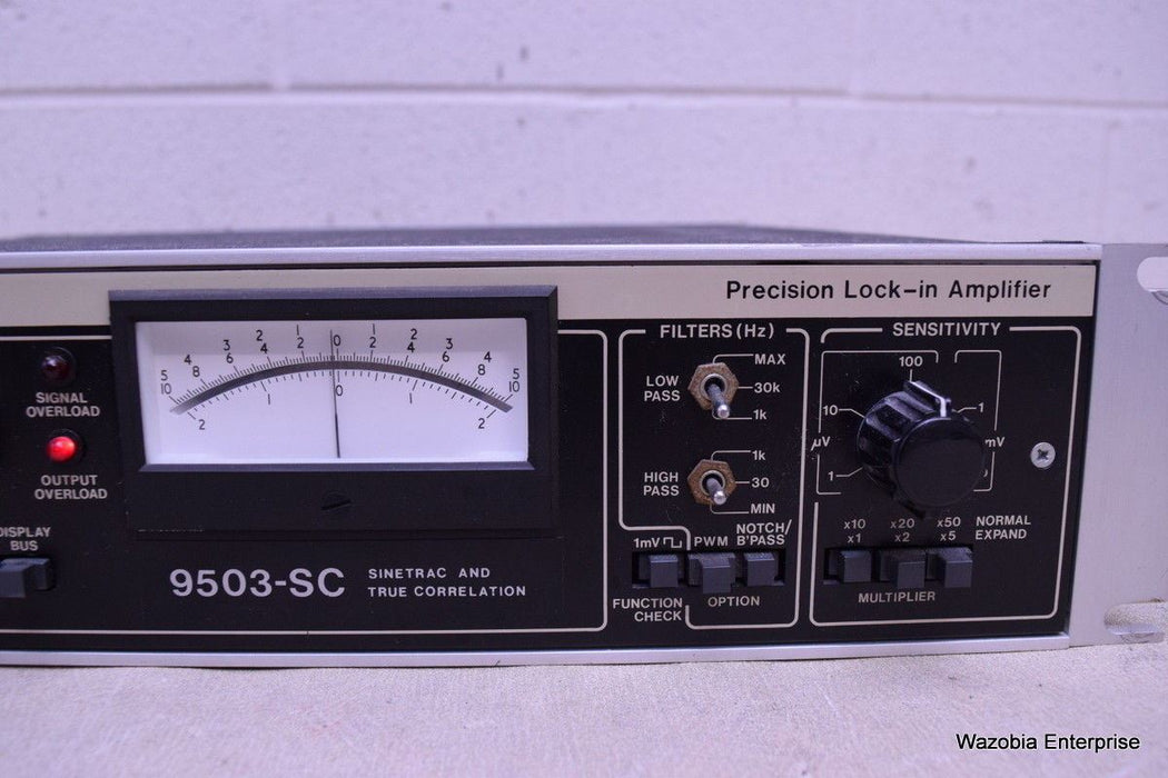 ORTEC BROOKDEAL PRECISION LOCK-IN AMPLIFIER 9503-SC SINETRAC  TRUE CORRELATION