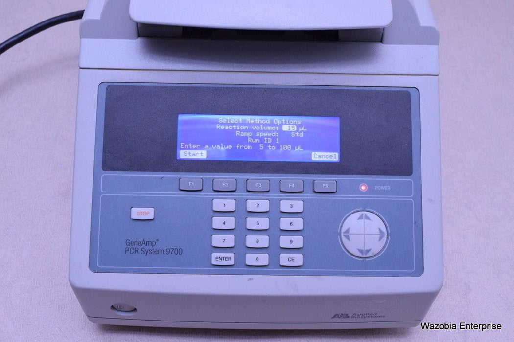 AB APPLIED BIOSYSTEMS GENEAMP PCR THERMAL CYCLER SYSTEM 9700