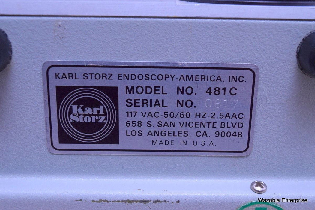 KARL STORZ ENDOSCOPY 481 C MINIATURE COLD LIGHT FOUNTAIN