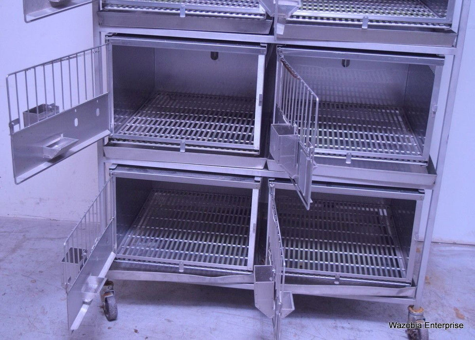 ALLENTOWN CAGING STAINLESS STEEL LAB VET ANIMAL CAGE