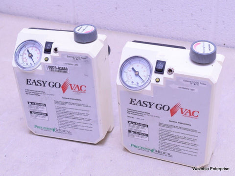 2 PRECISION MEDICAL EASYGO VAC ASPIRATOR