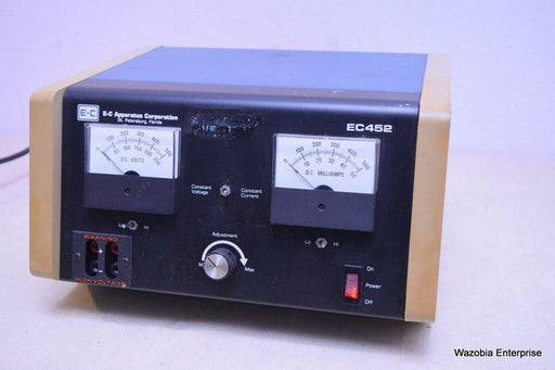 E-C APPARATUS CORP. MICROPROCESSOR CONTROLLED ELECTROPHORESIS POWER SUPPLY EC452