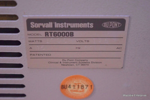 SORVALL RT 6000B REFRIGERATED CENTRIFUGE