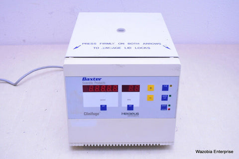HERAEUS INSTRUMENTS BAXTER SCIENTIFIC PRODUCTS CLINIFUGE CENTRIFUGE