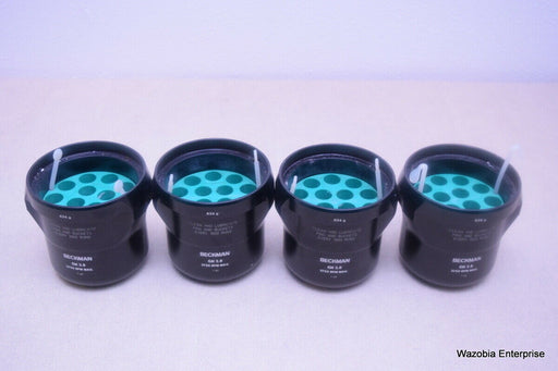 LOT OF 4 BECKMAN GH 3.8 634 G SWING CENTRIFUGE ROTOR BUCKETS WITH ADAPTERS
