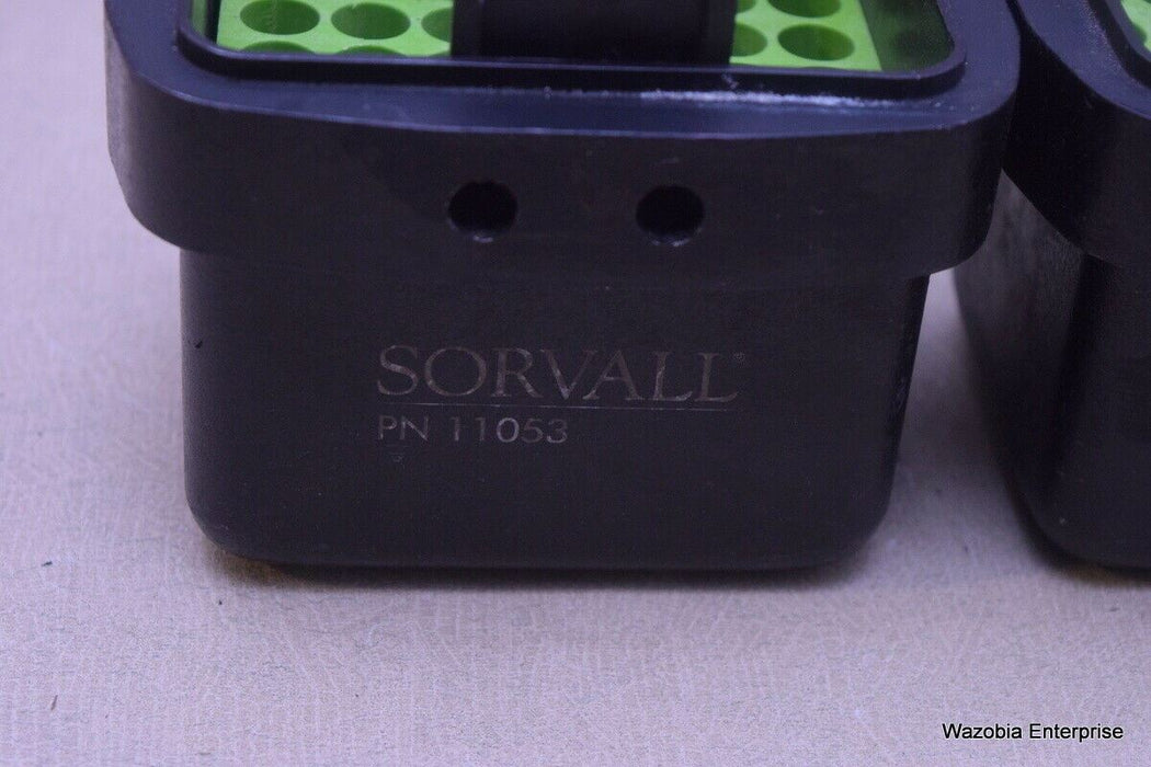 LOT OF 3 SORVALL CENTRIFUGE SWING ROTOR BUCKETS WITH ADAPTERS