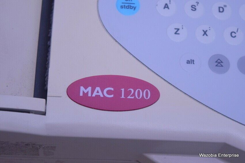 GE MEDICAL SYSTEMS MAC 1200 EKG ECG ELECTROCARDIOGRAPH UNIT