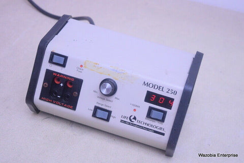 LIFE TECHNOLOGIES GIBCO BRL ELECTROPHORESIS POWER SUPPLY MODEL 250