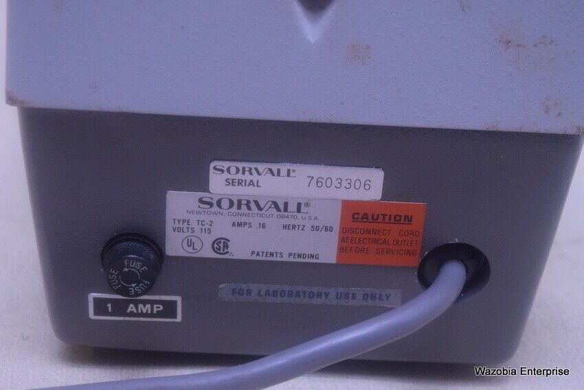 SORVALL TC-2 TISSUE SELECTOR SMITH AND FARQUHAR CHOPPER SECTIONER