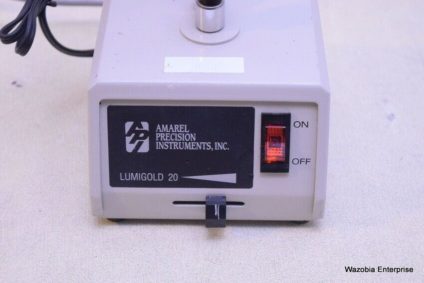 AMAREL PRECISION INSTRUMENT LUMIGOLD 20 MICROSCOPE LAMP LIGHT SOURCE TRANSFORMER