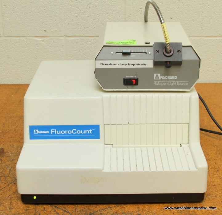 PACKARD FLUOROCOUNT MICROPLATE READER BF10000 WITH HALOGEN LIGHT SOURCE
