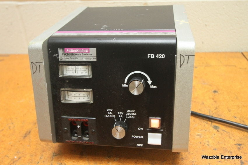FISHER BIOTECH FISHERBIOTECH ELECTROPHORESIS POWER SUPPLY FB 420 FB420