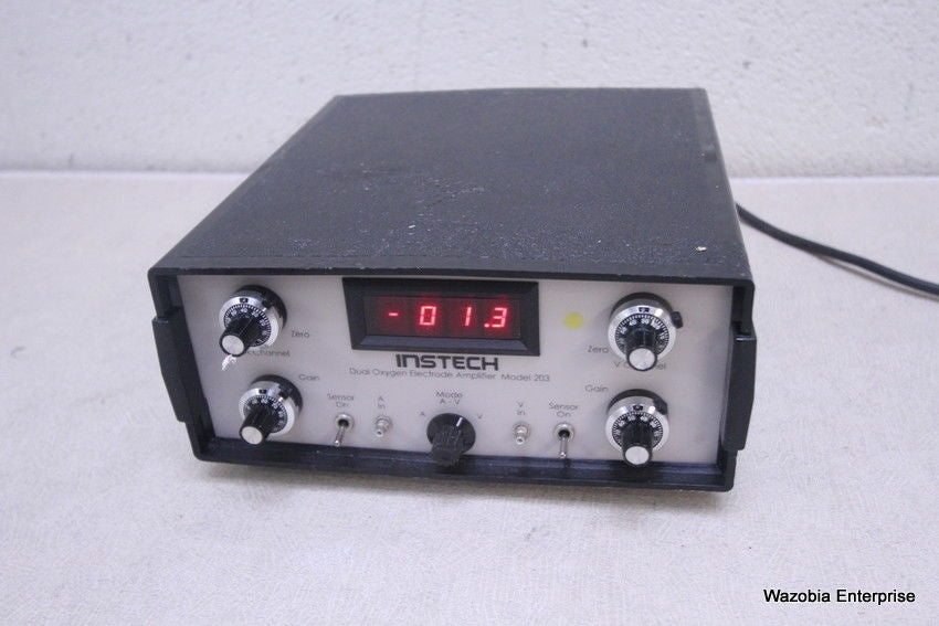 INSTECH DUAL OXYGEN ELECTRODE AMPLIFIER MODEL 203