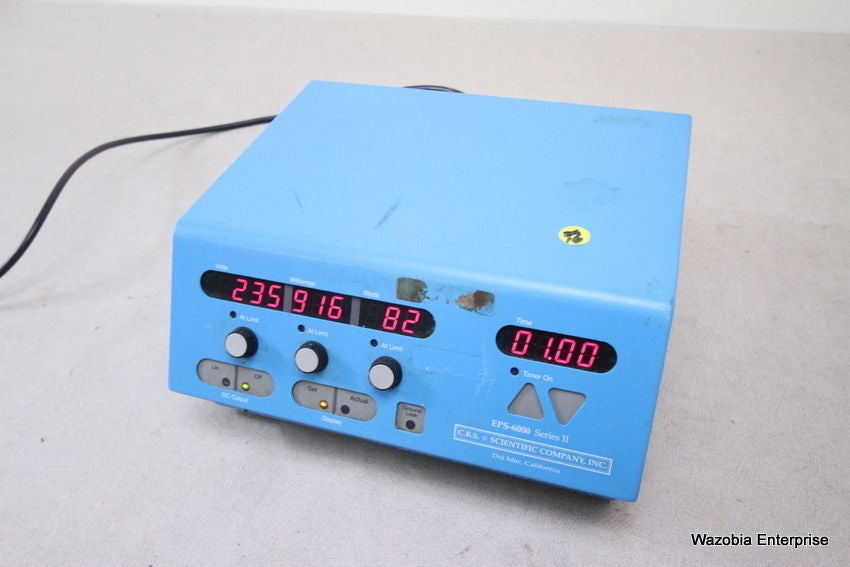 C.B.S SCIENTIFIC COMPANY EPS-6000 SERIES II ELECTROPHORESIS POWER SUPPLY