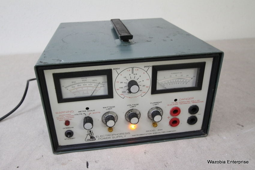 ISCO MODEL 494  ELECTROPHORESIS POWER SUPPLY
