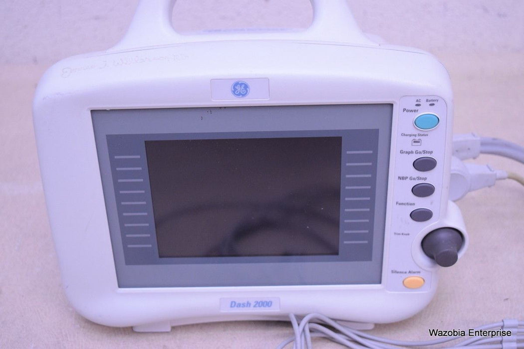 GE DASH 2000 VITAL SIGNS PATIENT MONITOR 101 169 04 V 3.0