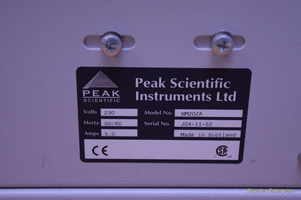 PEAK SCIENTIFIC MODEL NM20ZA GAS GENERATOR API SYSTEMS