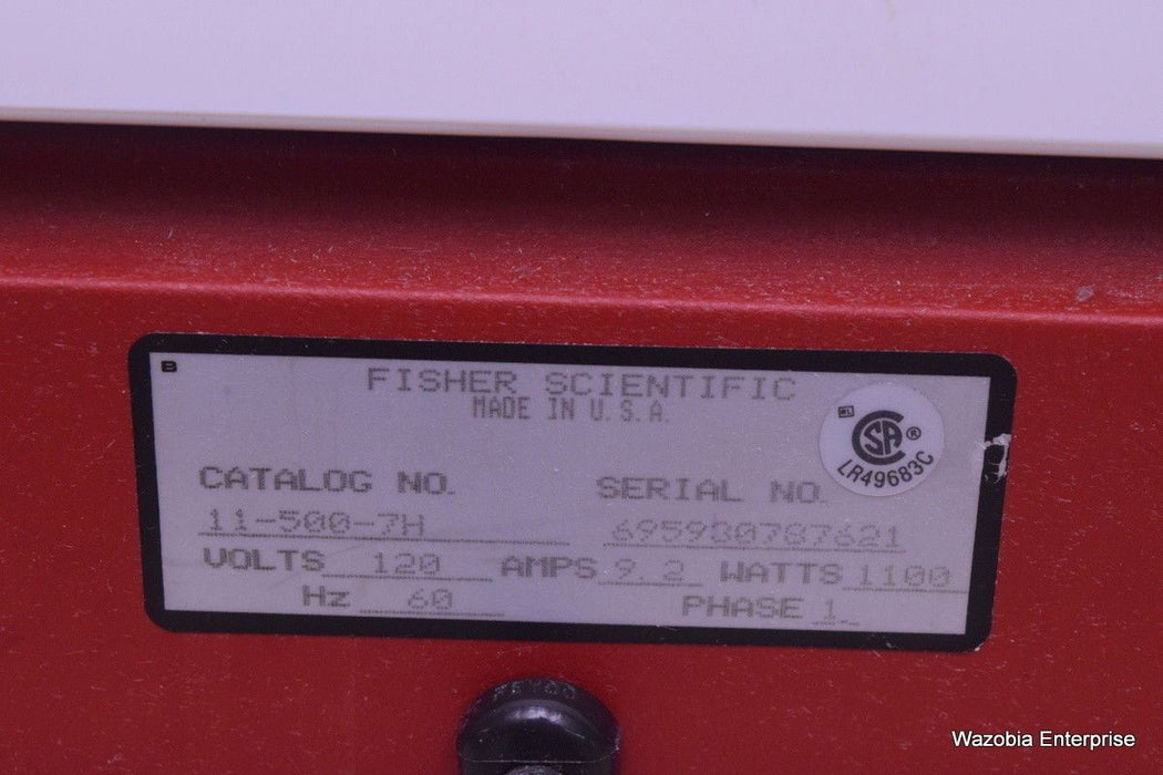 FISHER SCIENTIFIC HOT PLATE CAT. NO. 11-500-7H