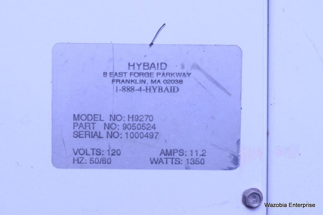 HYBAID LABORATORY OVEN MODEL H9270