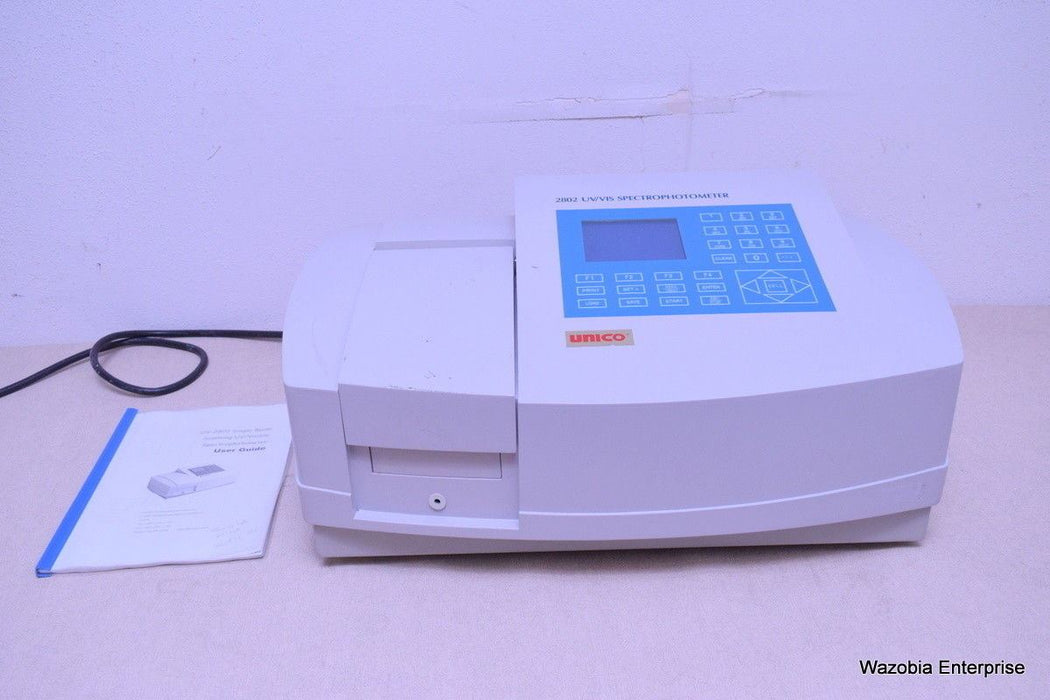 UNICO SPECTROQUEST SCANNING UV 2802 UV VIS SPECTROPHOTOMETER