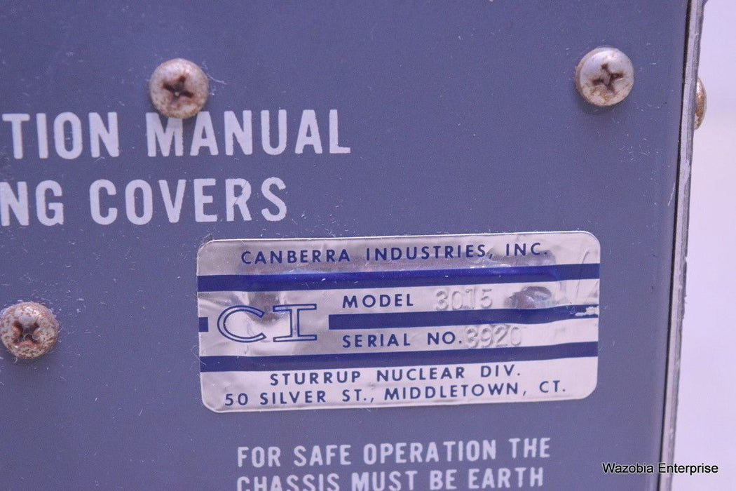 CANBERRA INDUSTRIES MODEL  3015 DC POWER SUPPLY
