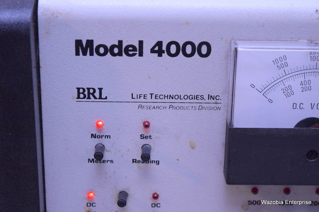 BRL LIFE TECHNOLOGIES RESEARCH PRODUCTS DIVISION MODEL 4000