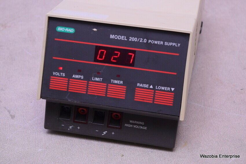 BIO-RAD MODEL 200/2.0 ELECTROPHORESIS POWER SUPPLY
