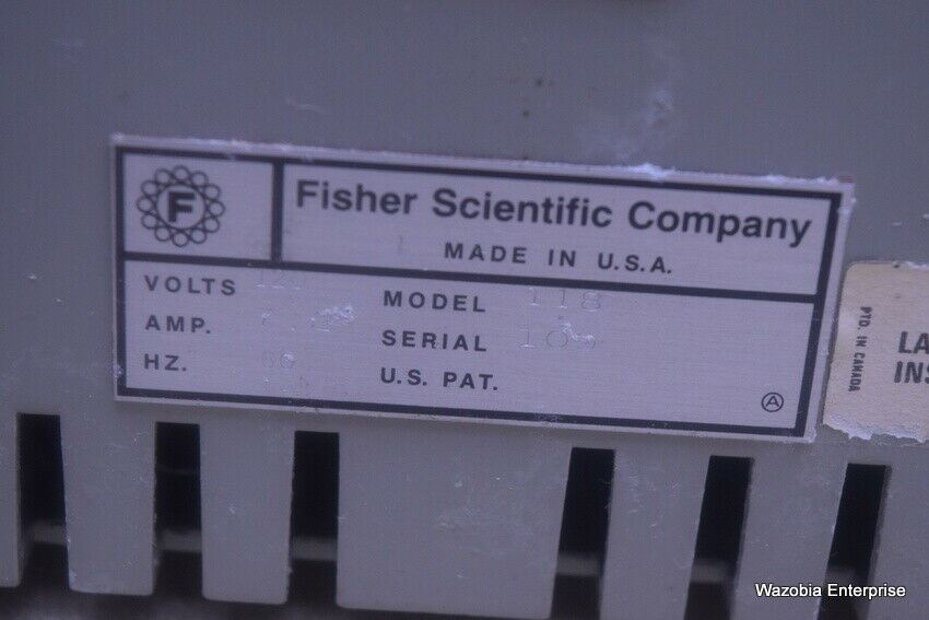FISHER SCIENTIFIC THERMIX MODEL 118