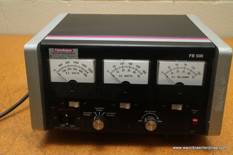 FISHER BIOTECH ELECTRPHORESIS SYSTEMS FB 500 POWER SUPPLY