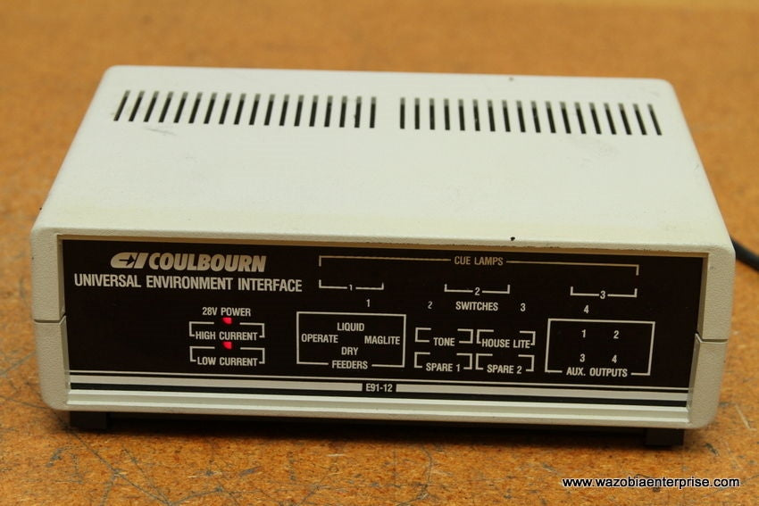 COULBOURN UNIVERSAL ENVIRONMENT INTERFACE E91-12