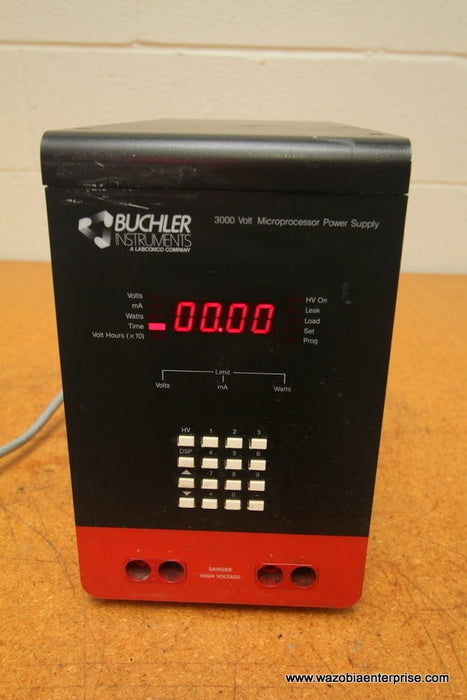 BUCHLER INSTRUMENTS  3000 VOLT MICROPROCESSOR POWER SUPPLY
