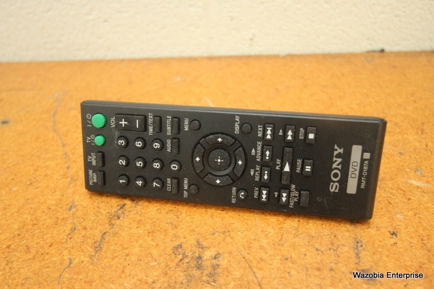 SONY DVD RMT-D187A IR REMOTE CONTROL