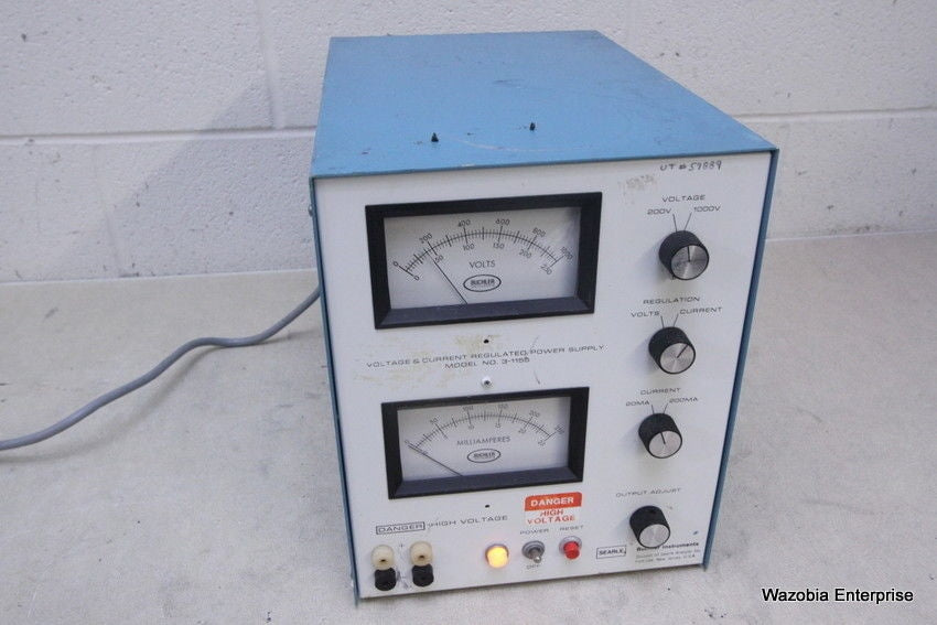 BUCHLER INSTRUMENTS VOLTAGE & CURRENT REGULATED POWER SUPPLY 3-1155