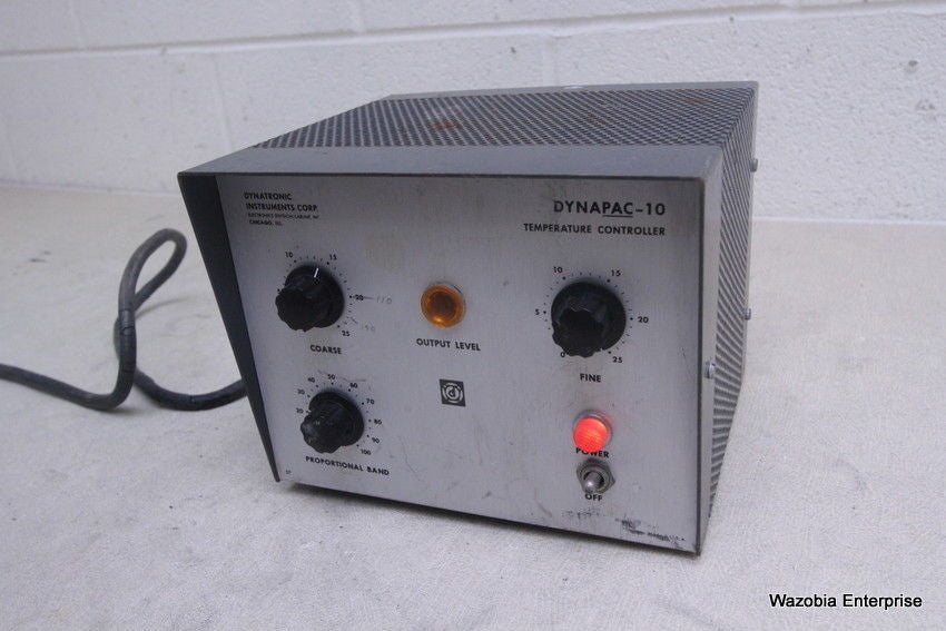 DYNATRONIC INSTRUMENTS DYNAPAC-10 TEMPERATURE CONTROLLER MODEL 8102