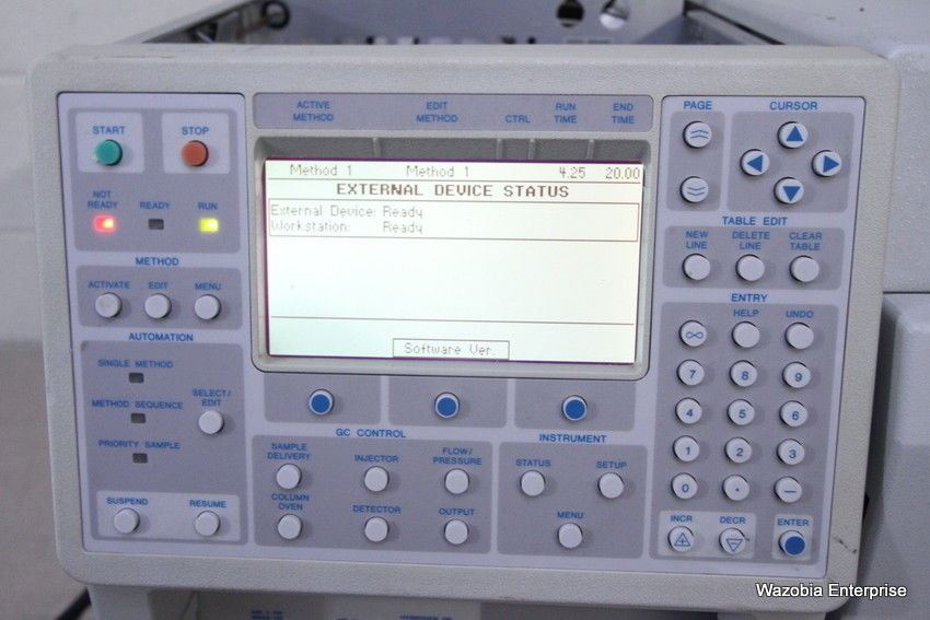 VARIAN CP-3800 GC GAS CHROMATOGRAPH 3800/3380