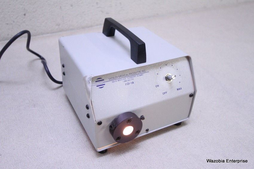 MOSLEY MEDICAL PRODUCTS FOI-1A FIBER OPTIC LIGHT SOURCE ILLUMINATOR