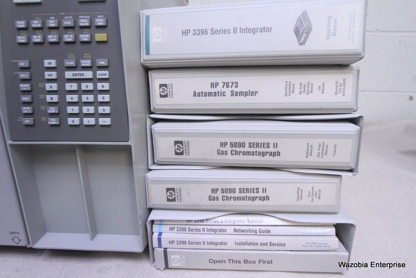 HP AGILENT 5890 SERIES II GAS CHROMATOGRAPH GC WITH 3396 INTEGRATOR