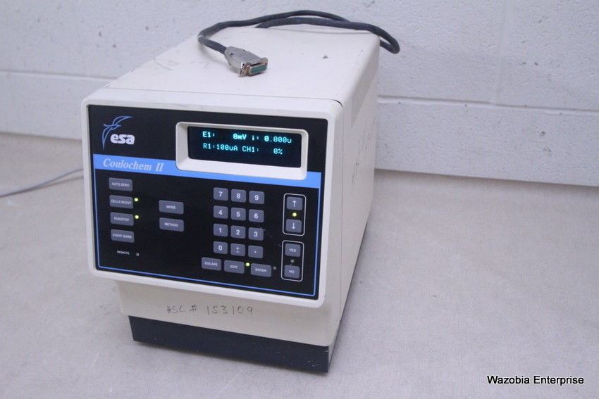 ESA COULOCHEM II ELECTROCHEMICAL DETECTOR W/ 582 PUMP ANALYTICAL CELL 5011 HPLC