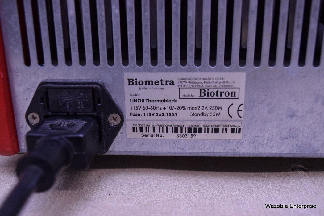 BIOTRON BIOMETRA UNO II THERMOCYCLER THERMOBLOCK