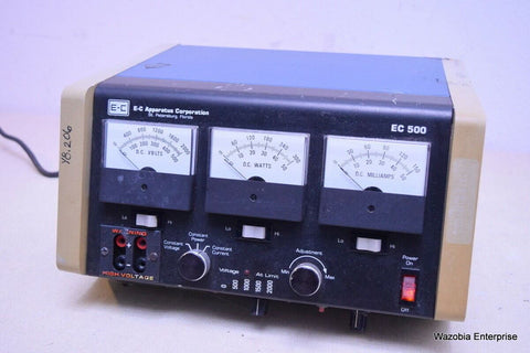 E-C APPARATUS CORP. MICROPROCESSOR CONTROLLED ELECTROPHORESIS POWER SUPPLY EC500