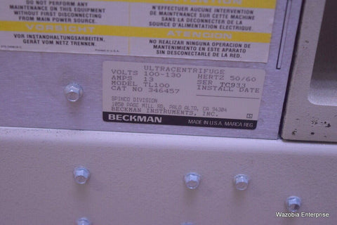 BECKMAN TL-100 ULTRACENTRIFUGE OPTIMA 120,000RPM NO ROTOR