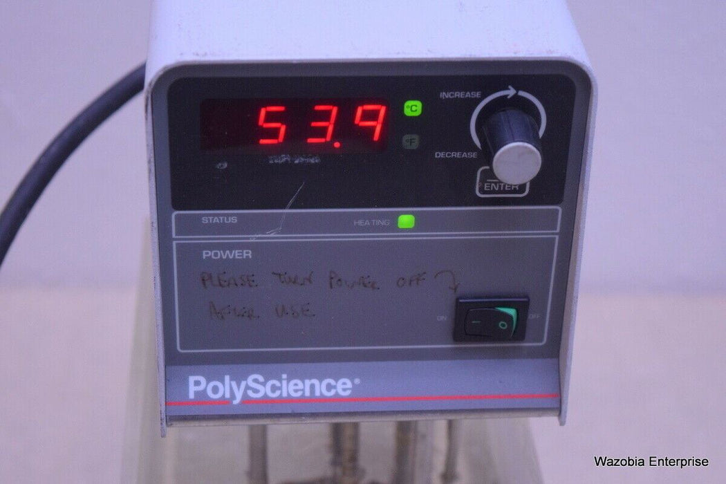 POLYSCIENCE  MODEL 7305  HEATED WATER BATH CIRCULATOR  IMMERSION  RECIRCULATING